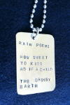 i.m. print silver with rain poem by Roy Anthony Shabla