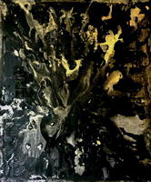 symphonic poem ~ black and gold I painting by Roy Anthony Shabla